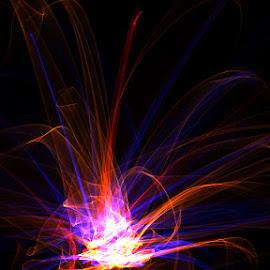 I see Fire by Maja Haban - Digital Art Abstract