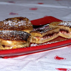 French Toast  With Raspberry, Chocolate &  Cream Cheese