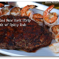 Grilled New York Strip Steak with Spicy Rub