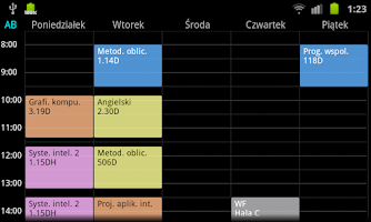 Screenshot of Timetable