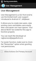 Screenshot of User Management