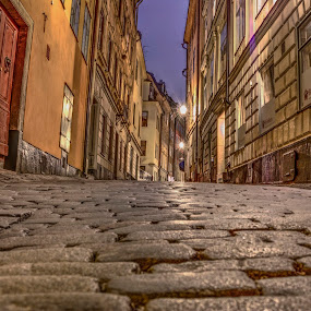 Stockholm by Stratos Lales - City,  Street & Park  Night ( old, stockholm, night, district, historic,  )