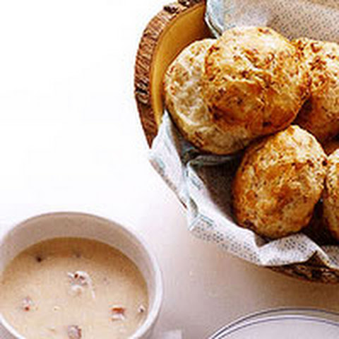 Chicken Biscuits with Bacon Gravy