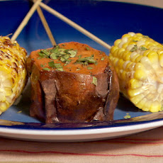 Grilled Corn Skewers with Chipotle- Cilantro Butter