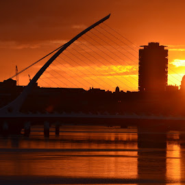 Dublin Sunset by Byardo Murphy - City,  Street & Park  Skylines (  )