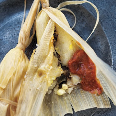 Chicken Tamales with Salsa Roja