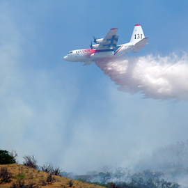 Fire Plane 3 by Dennis Robertson - News & Events Disasters ( airplane )