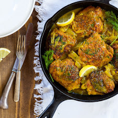 Braised Chicken Thighs with Lemon and Dill