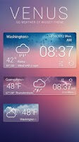 Screenshot of VENUS THEME GO WEATHER EX