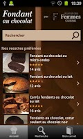 Screenshot of Fondant au chocolat
