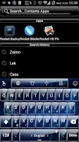 Screenshot of Theme TouchPal Glass Blue
