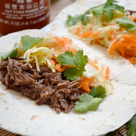 Hoisin Beef Tacos With Sweet & Sour Slaw