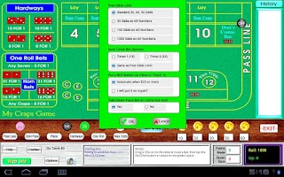 Screenshot of My Craps Game 1280x800 Tablet