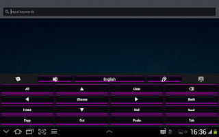 Screenshot of Black and Purple Keyboard