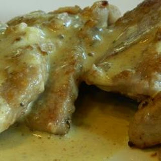 Pork Scaloppini with Mustard Creme