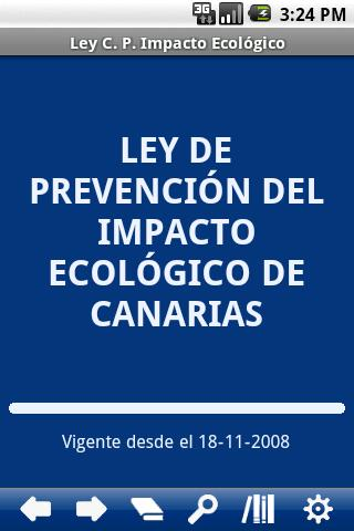 Canary Ecological Impact Prev