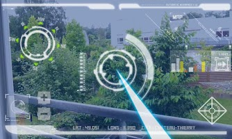 Screenshot of Robot HUD : Futuristic vision