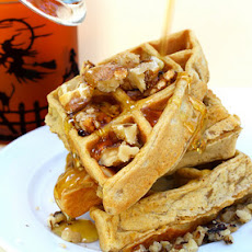 Sweet Potato Walnut Waffles