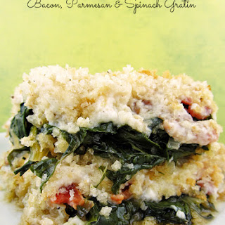 Bacon, Parmesan and Spinach Gratin