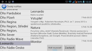 Screenshot of Cesky rozhlas (Unofficial)