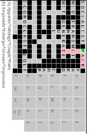 French English Crossword lite