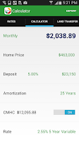 Screenshot of Mortgage Calculator & Rates