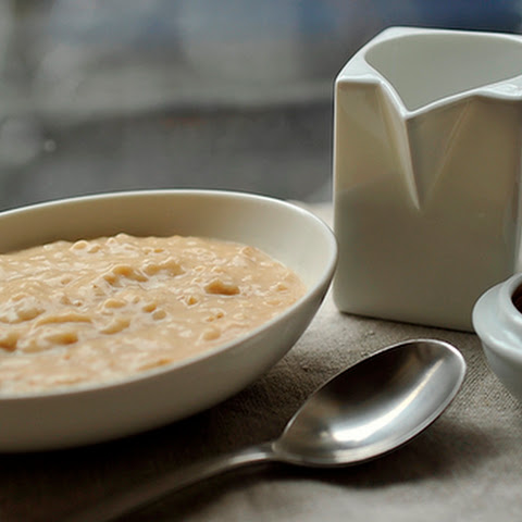 Overnight Steel-Cut Oats with Almond Butter & Honey