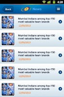Screenshot of Mumbai Indians