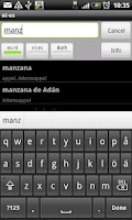Screenshot of Dutch-Spanish Dictionary