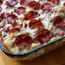 3 Meat Pizza Casserole