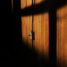 Lonely Lightswitch by Steve Molter - Buildings & Architecture Other Interior ( abstract, sunset, indoors, lightswitch )