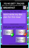 Screenshot of Yes No Diet Tracker II