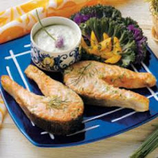 Salmon with Chive Mayonnaise