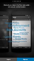 Screenshot of Pop! Control Your Data.