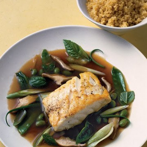 Pacific Halibut in Green Tea Broth