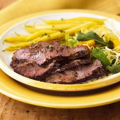 Skirt Steak with Balsamic Vinegar and Parmesan