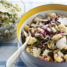 Radicchio Slaw with Green Beans and Cauliflower