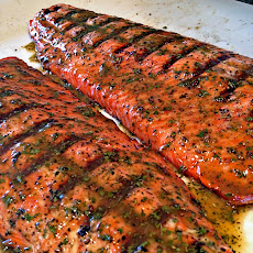 Grilled Sockeye Salmon with Fava Bean, White Corn, and Wild Mushroom ...