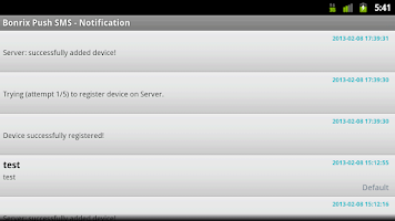 Screenshot of Bonrix Push SMS Alert - Tablet