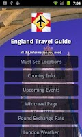 Screenshot of England Travel Guide
