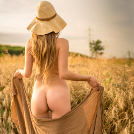 fields of joy - part 1 by Bogdan T. Fotografie - Nudes & Boudoir Artistic Nude ( field, erotic, body, sexy, girl, sky, nude, ass, shape )
