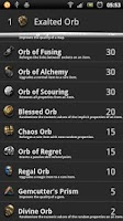 Screenshot of Path of Exile - Currency rates
