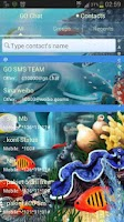 Screenshot of GO SMS Pro Theme water fish