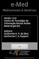 Screenshot of e-Med Medicamentos & Genéricos