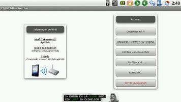 Screenshot of ZT-180 Adhoc Switcher