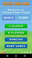 Screenshot of Soccer Ping-Pong