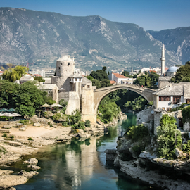 Mostar by Wim Moons - City,  Street & Park  Historic Districts ( bosnië en herzegovina, donja mahala, mostar, bih, federation of bosnia and herzegovina )