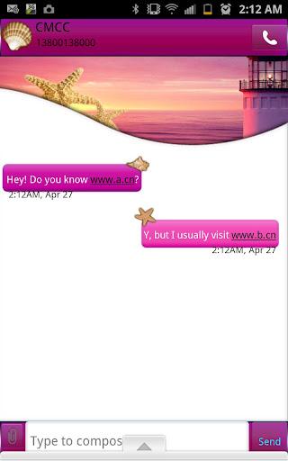 GO SMS - Sea Dusk