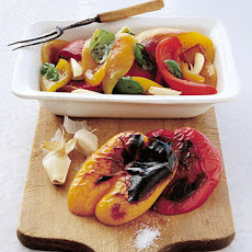 Roasted Peppers with Garlic and Basil