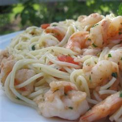 Lemony Garlic Shrimp with Pasta